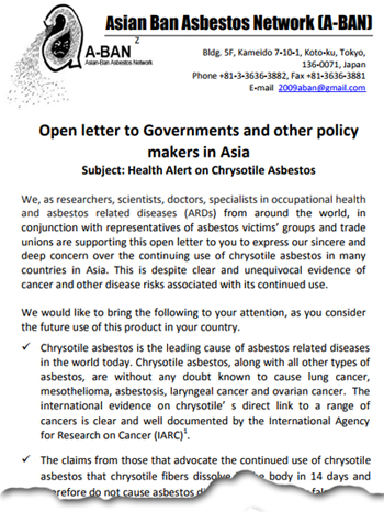 Pic: OpenLetter on Asbestos - click to download