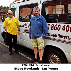 Pic: CWUHA trustess and CWU NW minibus