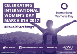 Pic: International Women's Day CWU leaflet