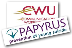 Pic: CWU and Papyrus logos