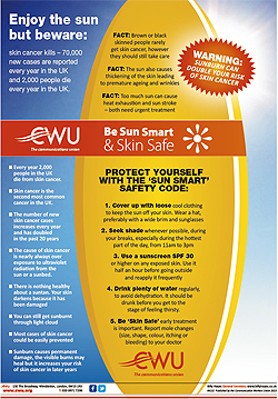 Pic: Be Sun Smart poster v- click to enlarge