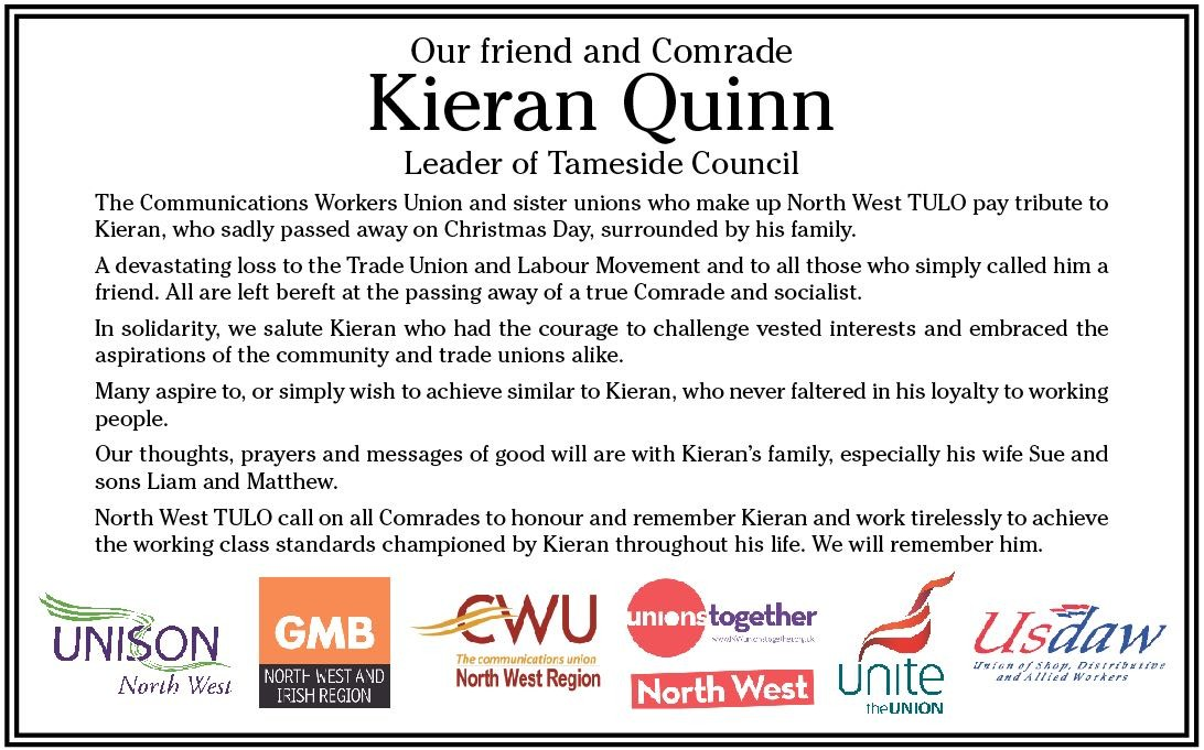 Pic: Tribute to Kieran Quinn