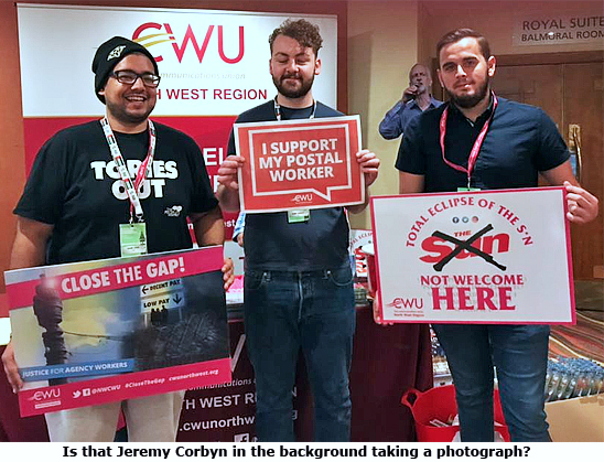 Pic: CWU Youth supporting CWU campaigns