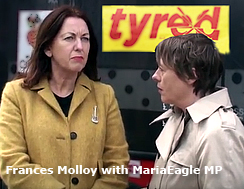 Pic: Frances Molloy with Maria Eagle MP