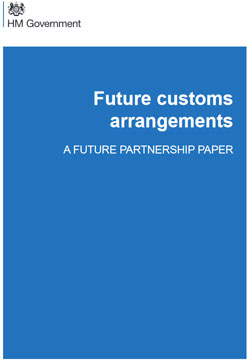 Pic: Government policy document on Customs Union after Brexit - click to download