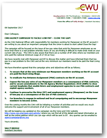 Pic: Close The Gap letter to members - click the pic to download a copy.