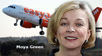 Pic: Moya Green with Easyjet plane
