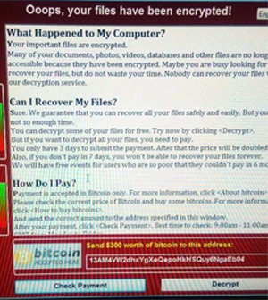 Pic: ransomware message