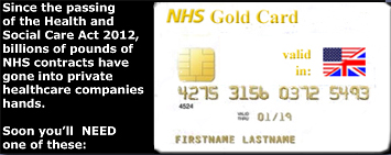 Pic: NHS Gold Card