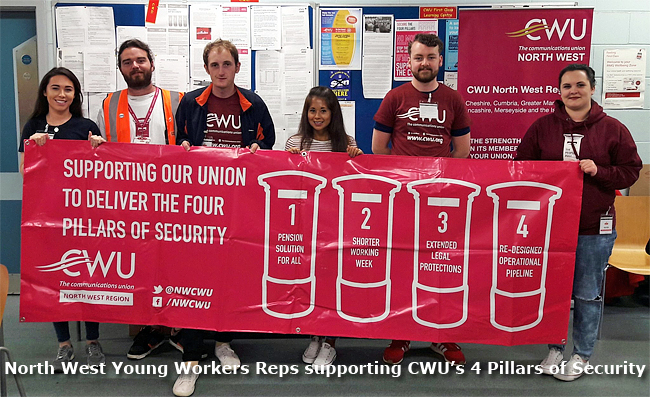 Pic: CWU youth reps