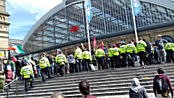 Pic: police outside Lime St Station