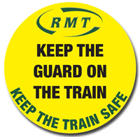Pic: RMT Keep Guards campaign