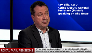 Pic: Ray Ellis interview on Sky News