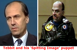 Pic: Tebbit and his Spitting Image show puppet