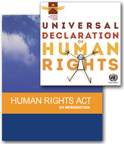 Pic: UN and UK Human Rights