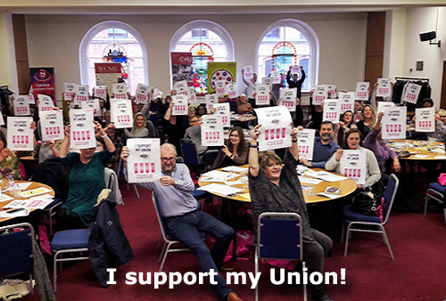 Pic: I Support My Union - delegates